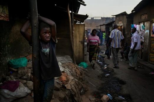 Street children in the slums